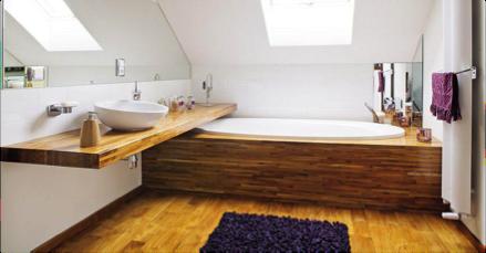 Сибирская лиственница для отделки ванной комнаты